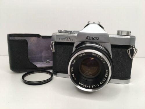 Vintage Kowa SET-R 35mm SLR camera f1.9 50mm interchangeable lens Japan AS-IS!!