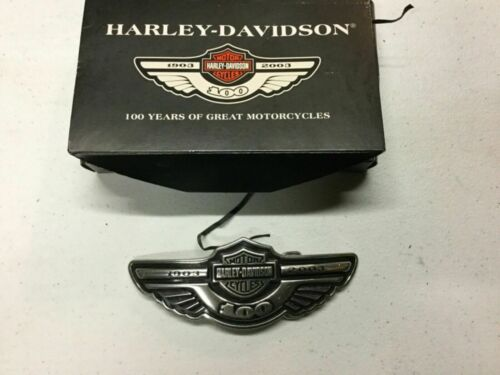 NEW in Box Harley Davidson 100th Anniversary Belt Buckle