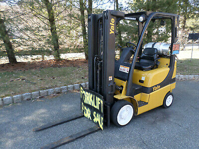 Yale Verucitor 50vx Forklift 5000lbs. Lift Capacity 4 Forks - 3 Stage Mast