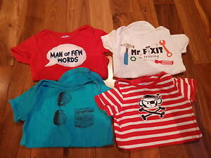 6 to 9 month old boys onesies - $10