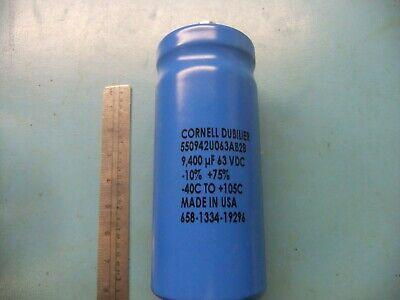 Cornell Dubilier 9400 Uf 63v Electrolytic Capacitor