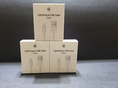 3-Press USB Data Charging Cable Cords for Apple IPhone 5 s 6 7 8 X Plus 2m/6ft
