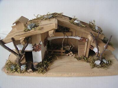 Krippenstall, Holzhaus, Weihnachtskrippe, Weihnachtsdekoration, Weihnachten