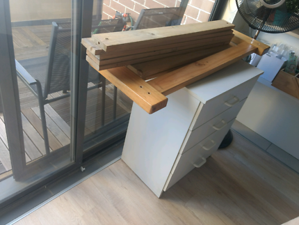 FREE - Single Bed frame and drawers. Pick-up at Northmead