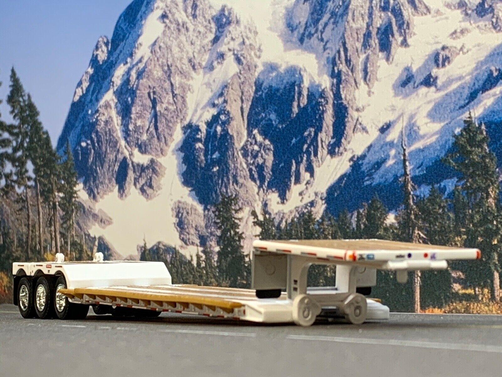 1/64 DCP WHITE FONTAINE RENEGADE TRI AXLE STRETCH LOWBOY TRAILER 2