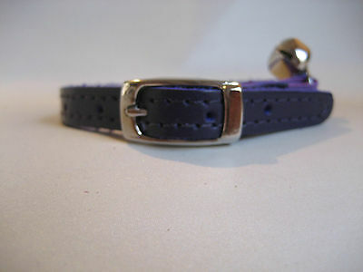 LEATHER PURPLE CAT COLLAR