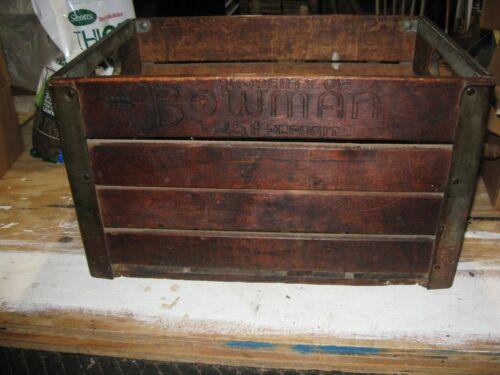 Vintage 1952 Bowman Dairy Crate