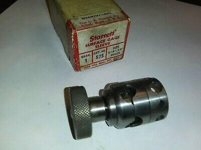 Starrett Universal Surface Gage Sleeve 57s Shows No Wear Indicator Clamp W-box