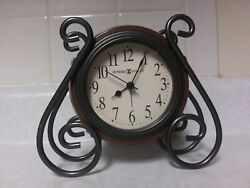 Howard Miller Diane Alarm Clock model 645-636 iron metal decor mantle desk top