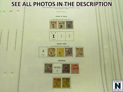 NobleSpirit No Reserve (RB) Fantastic INDO-CHINA 1886-1949 M&U Pages =$1, 800+ CV