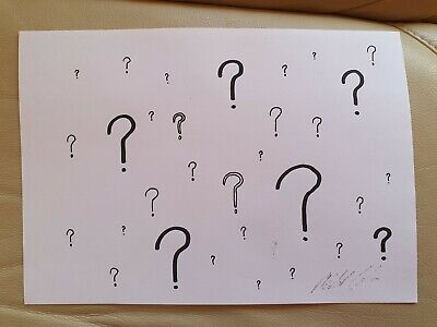 Art Michael Coleman POP Art  LOTS OF QUESTIONS PRINT  Signed WITH C.O.A