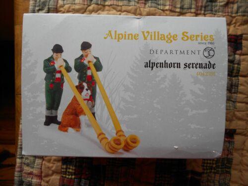 DEPT 56 ALPINE VILLAGE Accessory ALPENHORN SERENADE NIB
