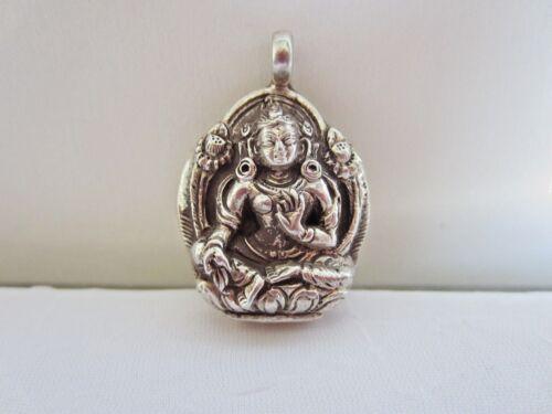 Sterling Silver Green Tara (goddess of compassion)Pendant handmade in Nepal 925