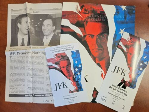 JFK Original 1991  World Premiere Benefit Movie Bundle