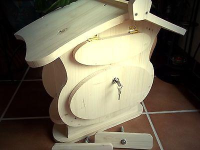 Holzbriefkasten Holz Postkasten zum bemalen SpitzdachTyp-2  tolles Design