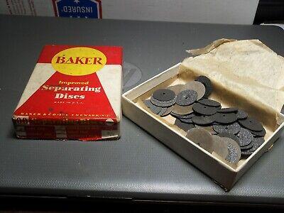 Parcel Box Of Vintage Baker Separating Sand Disks Depressed Hub U.s.a.