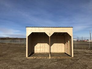 New horse shelters.