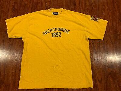 Abercrombie & Fitch Men's T-Shirt Shirt Yellow 1892 Large L A&F