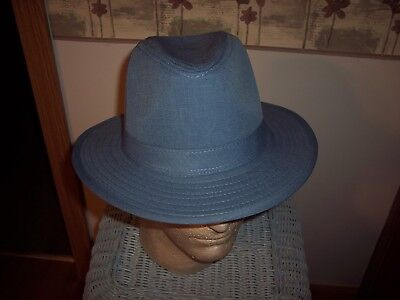 Men's Fedora - Price Just Reduced - 100% Polyester - Milano Moda -Size M - Blue