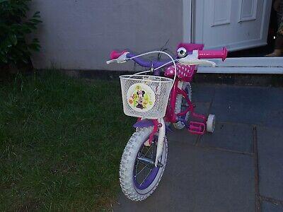 """Minnie mouse 14"""" Children's Bike - Pink"""
