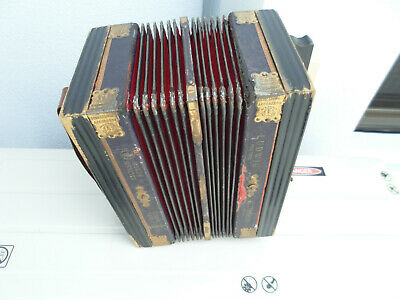 LUDWIG ACCORDION Pine Tree STEEL BRONZE Squeeze Box Excelsior Reeds Germany ANTI