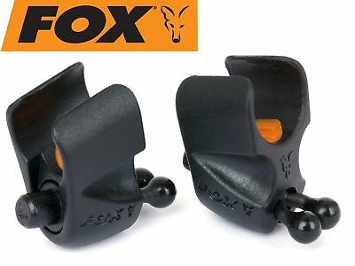 Fox Black Label Adjustable Rod Clip - 2 Rutenclips zum Karpfenangeln