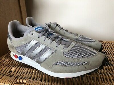 Adidas Mens LA Trainer UK Size 10 EU 44.5 Grey Suede.