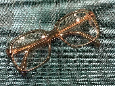 Vtg 1961 Mens Thick GRAY Plastic Oversized Eyeglasses Frames Apollo 61 (Spectacles Singapore)
