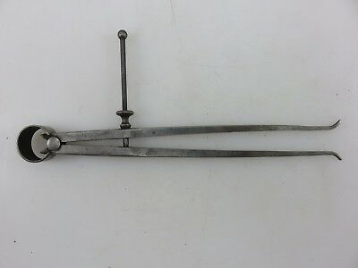 Starrett Spring-type Inside Caliper Divider 8 Flat Leg Vintage Made In Usa