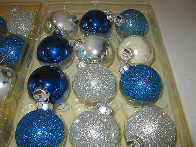 Set of 12 Blue & Silver Ornaments 3
