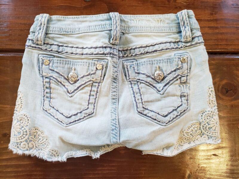 Girls Miss Me Jean Shorts Size 10