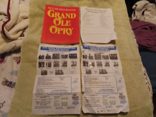 Vintage Grand Ole Opry Picture-History Book 1992/autographs! 3 bluegrass flyers