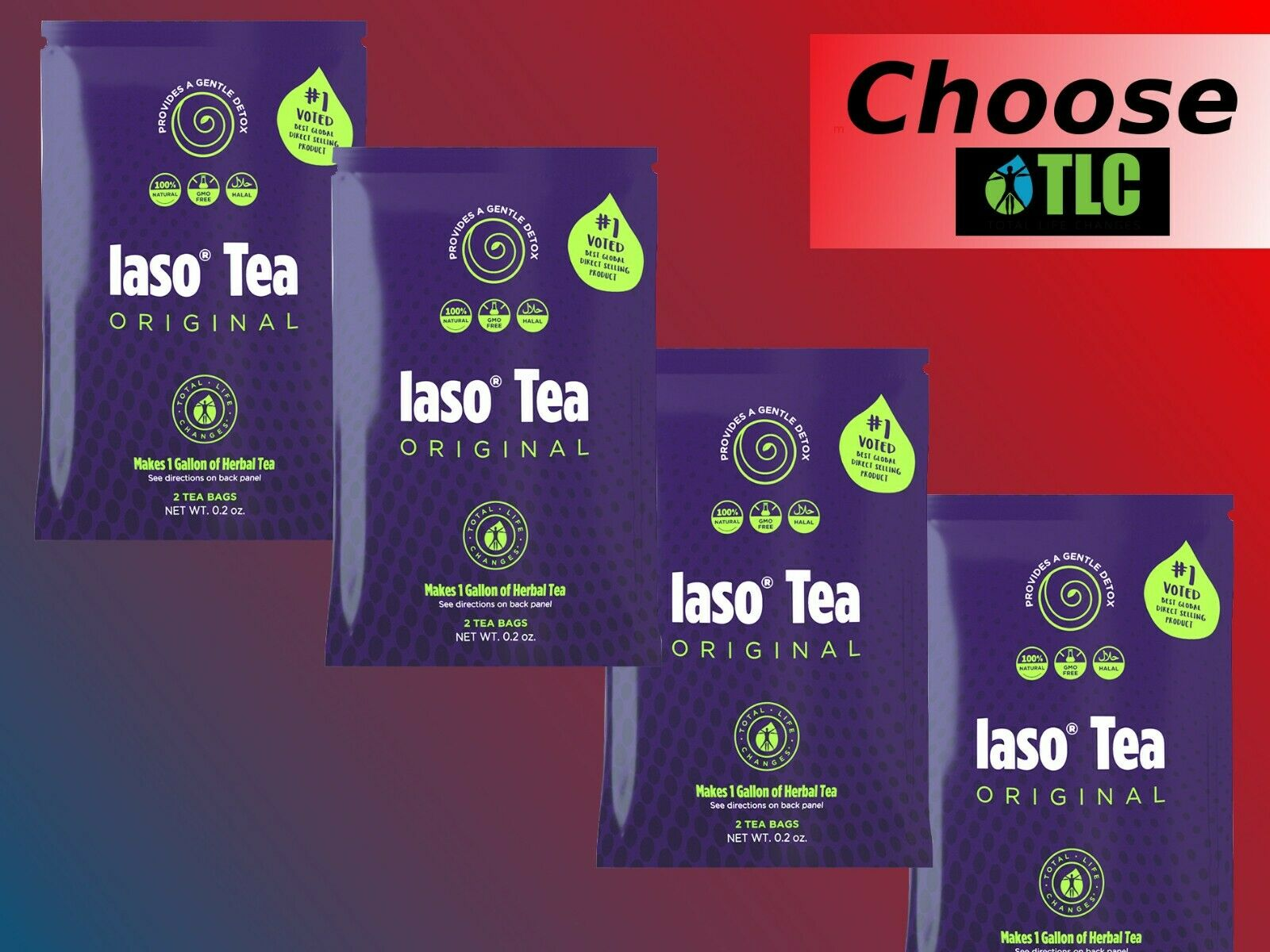 1-4 MONTH SUPPLY IASO TEA - Detox WEIGHT LOSS DIET Total Life Changes (TLC)