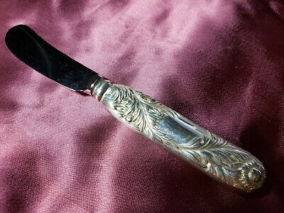 TIFFANY Chrysanthemum Sterling Silver Butter Hollow Knife, 6
