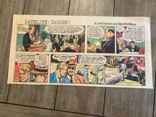 #15 DATELINE: DANGER!  Sunday Third Page Comic Strip November 17, 1968