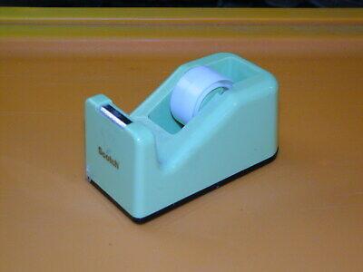 Vintage Scotch Brand Desktop Tape Dispenser Green 4 Inch Circa 1990s Wtape