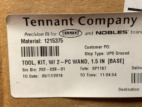 Brand New OEM Tennant 1215375 Tool, Kit, W/ 2 - PC Wand. 1.5IN BASE
