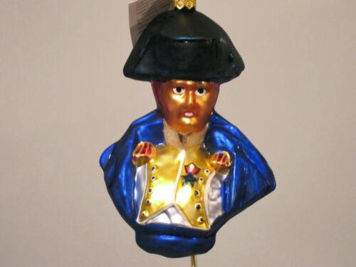 Christopher Radko GENERAL LAFAYETTE/Patriotic Glass Christmas ornament,1997