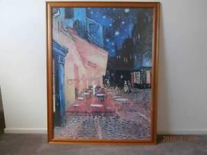 a0ab8e99cd2 As new framed 1.3m x 1m Van Gogh print – Café Terrace at Night