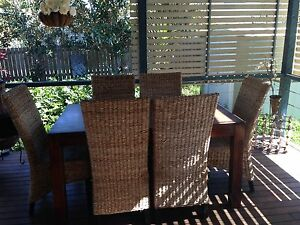 6 X rattan dining chairs Carina Brisbane South East Preview