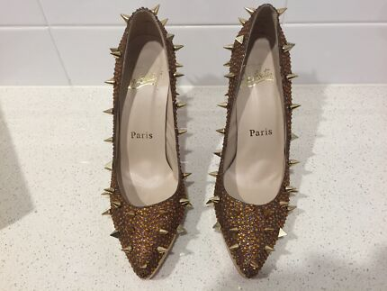 Christian Louboutin gold spike heels Zillmere Brisbane North East Preview