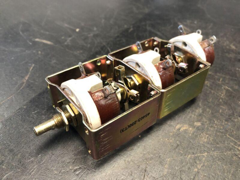 OHMITE 1CZ-128 Rheostat Triple Tandem 250 OHM, 1CZ128