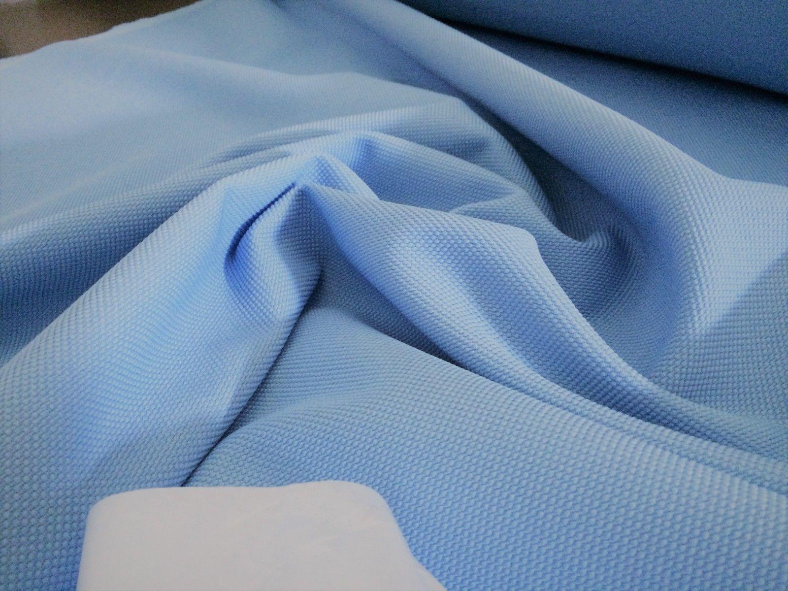 10 Meter Polsterstoff Möbelstoff Webstoff Bezug Meterware fleckschutz baby blau