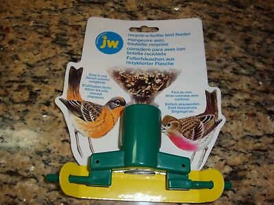 NEW JW Recycle-A-Bottle Bird Feeder! Attract Colorful Songbirds!