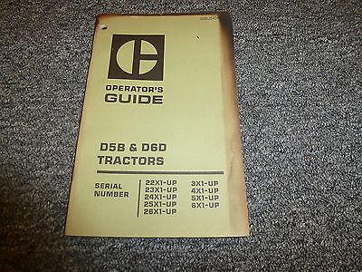 Caterpillar Cat D5b D6d Crawler Tractor Dozer Owner Operator Maintenance Manual