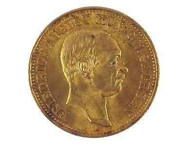Kaiserreich 10 Mark Gold 1910 Friedrich August König von Sachsen