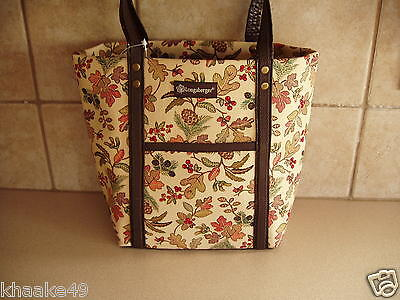 LONGABERGER AUTUMN PATH TOTE BAG PURSE WITH FRONT POCKET * NEW * FREE SHIPPING