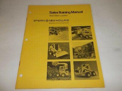 Sperry New Holland Skid-steer Loaders Sales Training Manual L-325 L-425 L-445