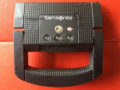 SAMSONITE S'CURE silver SPARE replacement LOCK & HANDLE used SUITCASE part 6163