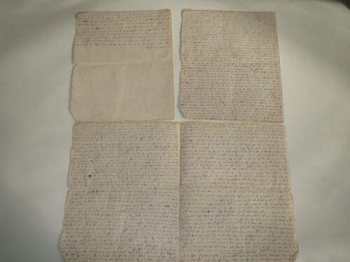 19th CENTURY HEBREW MANUSCRIPT 7 pages Original Autograph Jewish Judaica rare